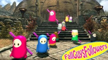 "В The Elder Scrolls 5: Skyrim появился мод ""Fall Guys Followers"""