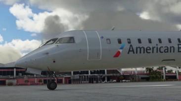 Трейлер аэропорта Бонайре с намеком на CRJ для Microsoft Flight Simulator