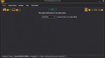 Audiosurf 2: Трейнер/Trainer (+1: Color Convert / Конвертация Цвета) [1.0] {0x90}