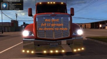 American Truck Simulator: Сохранение/SaveGame (31,000,000$, 12 гаражей, без читов)