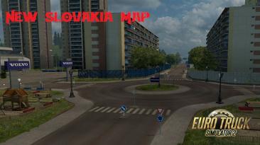 "Euro Truck Simulator 2 ""Карта Словакии v27.0 (1.40.x)"""