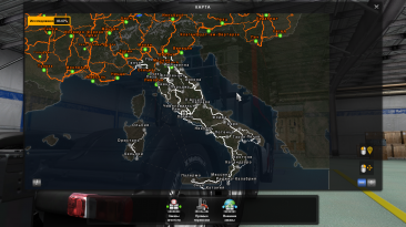"""ETS 2 """"Russian City Names for Italy Map v2.0"""""""