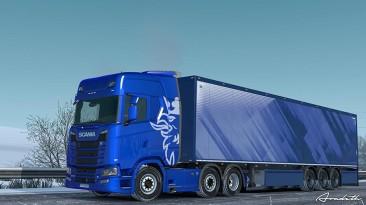 "Euro Truck Simulator 2 Мод BRIDGESTONE SNOWY TRUCK/TRAILER TIRES V1.1"""