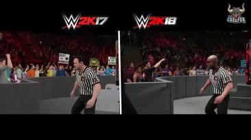 WWE 2K18 - топ 10 сцен графическое сравнение