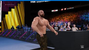 """WWE 2K16 """"Наряд рестлера Jon Moxley из WWE 2K19 с анимированным лицом"""""""