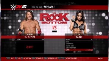 "WWE 2k16 ""AJ Styles, Naomi рендеры"""