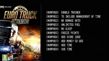 Euro Truck Simulator 2: Трейнер/Trainer (+10) [Ver.1.25.1.2s(x64) Steam] {LIRW / GHL}