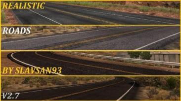 "American Truck Simulator ""Realistic Roads v3.2 (1.36.x)"""