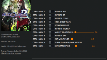 Death end re;Quest 2: Трейнер/Trainer (+11) [1.0] {FLiNG}