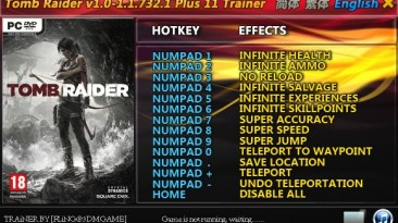 Tomb Raider (2013): Трейнер/Trainer (+11) [1.0 ~ 1.1.732.1] {FLiNG}