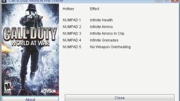 Call of Duty - World at War: Трейнер/Trainer (+5) [1.1] {GRIZZLY/PlayGround.ru}