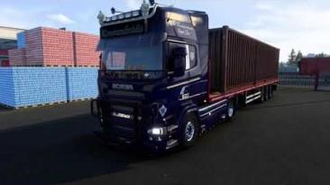 """Euro Truck Simulator 2 """"Новые двигатели и звуки Scania V8 Open pipe с выхлопной системой Lepidas v1.0 (1.41.x)"""""""