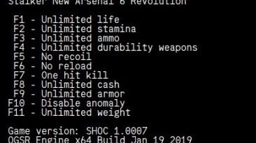 S.T.A.L.K.E.R. Новый Арсенал 6. Революция: Трейнер/Trainer (+11) [1.0007] {LIRW / GHL}