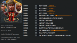 Age of Empires 2 - Definitive Edition: Трейнер/Trainer (+13) [1.0 - Build.42848] {FLiNG}