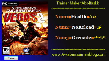 Tom Clancy's Rainbow Six Vegas 2: Трейнер/Trainer (+3) [1.0.0.59] {Abolfazl.k}