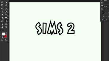 "Sims 2 ""Шрифт для фотошопа"""