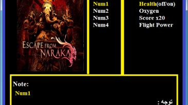 Escape from Naraka: Трейнер/Trainer (+4) [1.0] {Abolfazl.k}