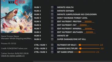 Maneater: Трейнер/Trainer (+13) [1.0 - UPD: 31.08.2021] {FLiNG}