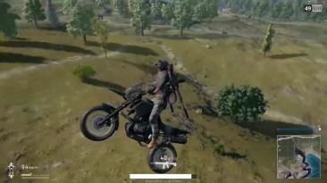 Playerunknown's Battlegrounds - Весёлое путешествие на мотоцикле [баг]