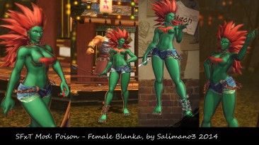 """Street Fighter X Tekken """"SFxT Mod: Poison - Female Blanka"""""""