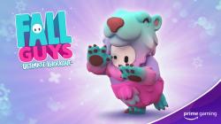 Костюм Slushie Bear для Fall Guys теперь доступен в Prime Gaming