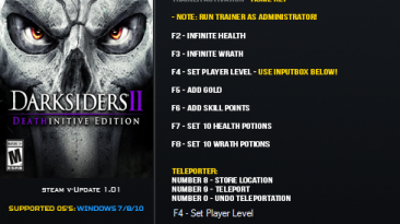 Darksiders 2: Deathinitive Edition: Трейнер/Trainer (+9) [1.01] {LinGon}