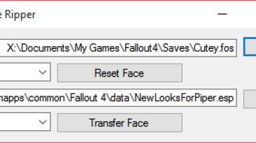 "Fallout 4 ""Face Ripper v35/Смена внешности персонажа"""