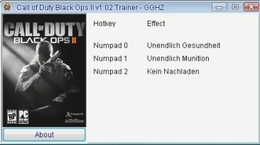 Call of Duty - Black Ops 2: Трейнер/Trainer (+3) [1.02] {Chris/GGHZ}