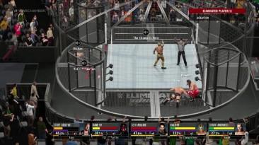 "WWE 2K16 ""Потрясающий Онлайн 6 MAN Elimination Chamber Match - Ken Shamrock VS Steve Austin VS Kane VS Seth Rollins VS Kalisto VS HBK Shawn Michaels"""