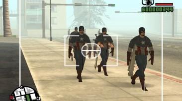 """Grand Theft Auto: San Andreas """"Внезапная атака косплейщиков Капитана Америки (SA) 1.0"""""""