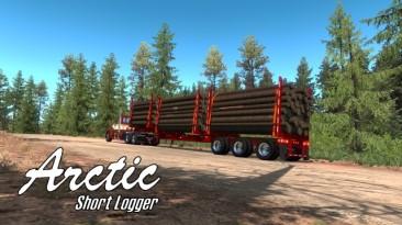 "American Truck Simulator ""Арктический Короткий Лесовоз HR-51TR ATS 1.38.x"""