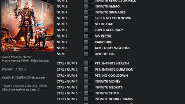 Necromunda: Hired Gun: Трейнер/Trainer (+19) [0.58333 - 1.60429] {FLiNG}