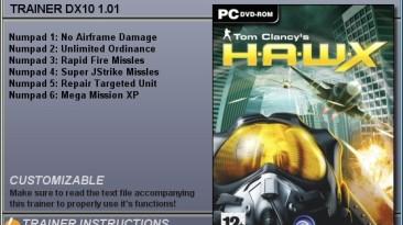 Tom Clancy's - H.A.W.X.: Трейнер (+3 & +6) [1.0 - 1.1 (DX9 - DX10)] {CheatHappens}