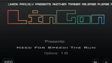 Need for Speed - The Run: Трейнер/Trainer (+10) [1.0] {LinGon}