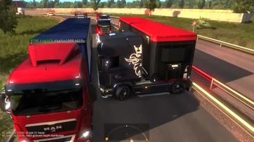 Euro Truck Simulator 2 Multiplayer  Смешные моменты и сбои   # 62