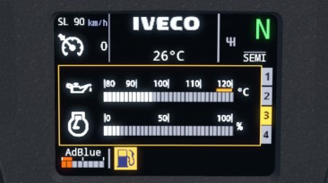 """Euro Truck Simulator 2 """"Мод IVECO Hi Way Realistic Dashboard Computer (newer version) v1.0 by nfshp253"""""""