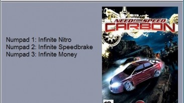 Need for Speed - Carbon: Трейнер/Trainer (+3) [1.4] {24K}