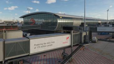 Небольшая но впечатляющая превьюшка аэропорта Брюсселя в Microsoft Flight Simulator