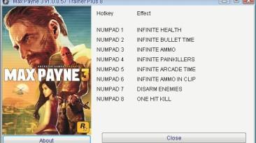 Max Payne 3: Трейнер/Trainer (+8) [1.0.0.57] {GRIZZLY/PlayGround.ru}