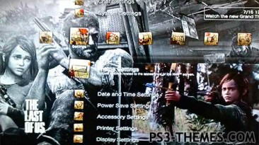 """The Last of Us """"Анимированная тема для PS3 (5)"""