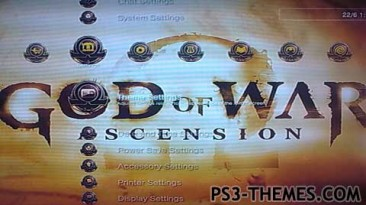 God of War: Ascension theme for PS3.
