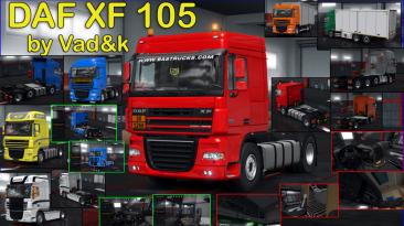 """Euro Truck Simulator 2 """"DAF XF 105 [vad&k] v.7.4 (1.40.х)"""""""