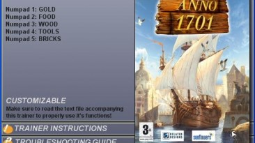 1701 A.D. (Anno 1701) Sunken Dragon: Трейнер(+5) [1.0]