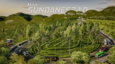 "Euro Truck Simulator 2 ""Карта: Sundanese v1.0 Update (1.39.x - 1.40.x)"""