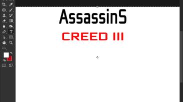 "Assassins creed 3 ""Шрифт для фотошопа"""