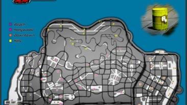 Midnight Club: Los Angeles: Совет (Карта золотых бочек)