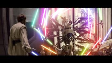 Когда Гривус использует много лазерных мечей