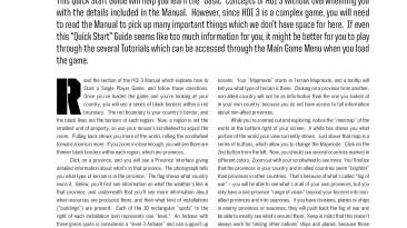 """Hearts of Iron 3 """"Quickstart Guide (Руководство по быстрому старту)"""""""
