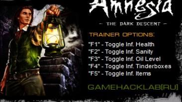 Amnesia: The Dark Descent: Трейнер/Trainer (+5) [1.3.1] {CuBiC}