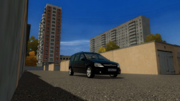 "City Car Driving ""Lada Largus (v1.5.8 - 1.5.9.2)"""